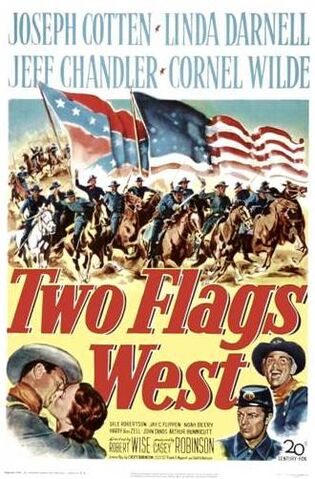 File:1950 - Two Flags West Movie Poster.jpg