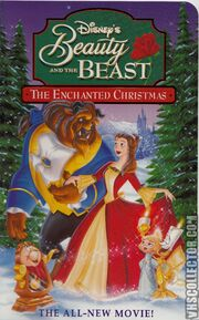Beauty and the Beast-The Enchanted Christmas -VHS-front NEW