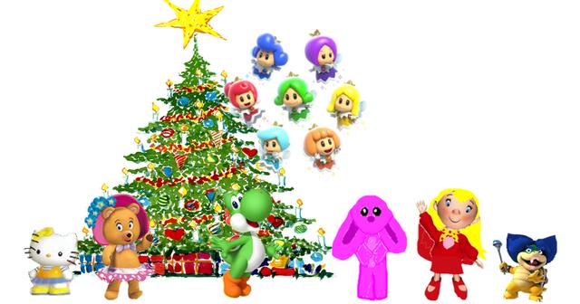 File:Hello yoshi and Sprixies Christmas.PNG