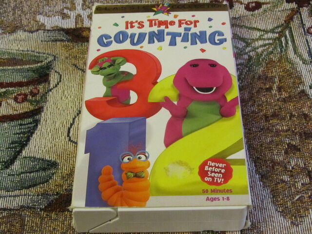 File:Barney It's Time For Counting 1998 VHS.jpg