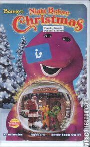 Barney's Night Before Christmas VHS Front Cover