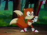 Tails with a stick