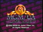 MGM UA Home Video Copyright Screen (2002)