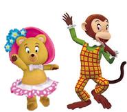 Tessie and Martha monkey