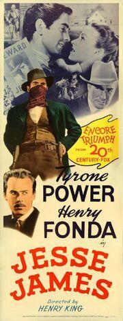 1939 - Jesse James Movie Poster