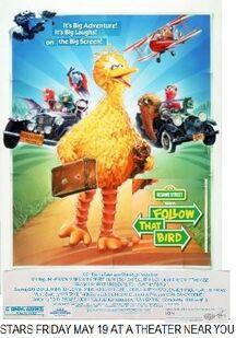 Follow That Bird 1995 Re-Release Poster