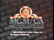 MGM UA Home Video Copyright Screen (1989 Variant)