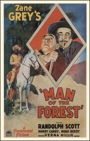 1933 - Man of the Forest Movie Poster