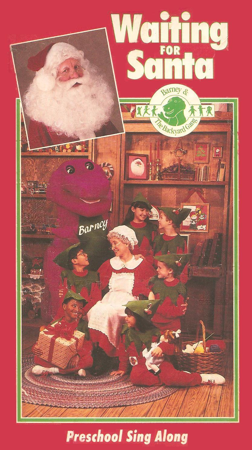 opening to barney and the backyard gang waiting for santa 1990 vhs