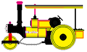 Yellow Coated Martha the Steamroller