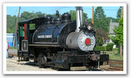 Shelburne Falls Trolley Museum - Events - Members' Day Caboose Rides! - American Viscose Co. 0-4-0T No. 6