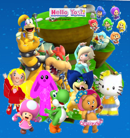 File:Hello yoshi 3D World page.PNG