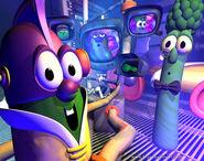 Larryboy & Archibald as Buzz Lightyear & Woody