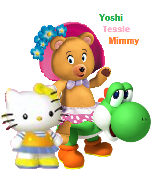 File:Yoshi, Tessie bear and Mimmy.png
