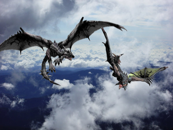 File:Rathalos stand off.jpg