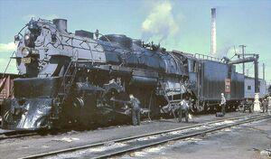 Recent Losses -- Steam Locomotives Scrapped Since 1959 - Chicago, Burlington & Quincy 4-8-4 5632
