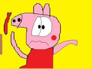 Peppa Pig And George Pig Is Eating A Red Thing And Full And Calls Homer Simpson 1307