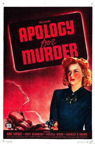 File:1945 - Apology for Murder Movie Poster.jpg