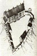 Hrodna castle plan XVII-XVIIIcc