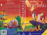 The Lion King Australian VHS Cover