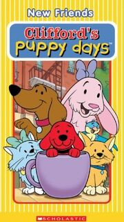 Cliffords puppy days new friends vhs