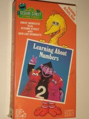 Sesame Street Learning About Numbers VHS