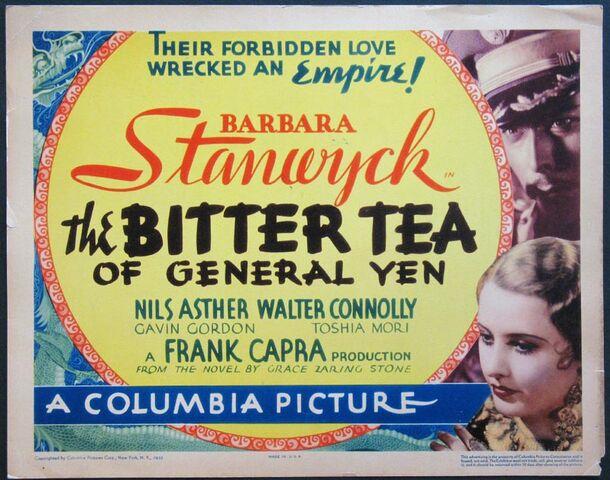 File:1933 - The Bitter Tea of General Yen Movie Poster.jpg
