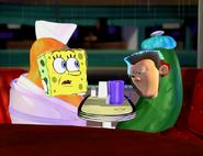 Spongebob and sheen sad