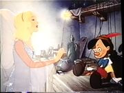 The Blue Fairy with Pinocchio