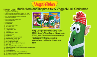 Music from and Inspired by a Veggiemunk Christmas back cover