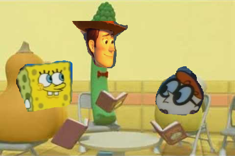 File:Dexter woody and spongebob.png