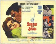 1961 - Summer and Smoke Movie Poster