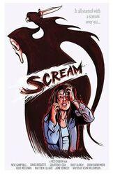 Scream Cartoon Poster
