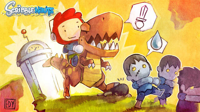 File:Scribblenauts-post-217-raptor-zombies-time-machine.jpg