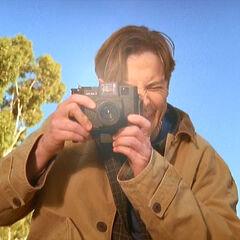 Ben takes a photo