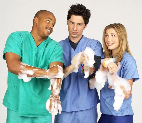 File:Season One Promotional Scrubs Scrubbing.jpg