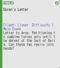Duran's Letter