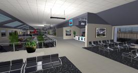 Desdemona Airfield concourse, looking SW (08-14)