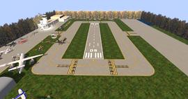 KBEG Airport, looking east (10-15)