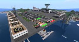 Grenadier Airport, looking NW (05-14)