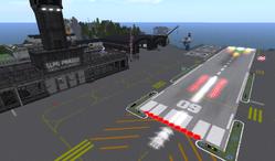 SLPG runway, looking NE (02-13)