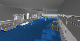 DT Regional Skyport terminal, main floor