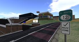 Desdemona Airfield, main entrance (04-14)