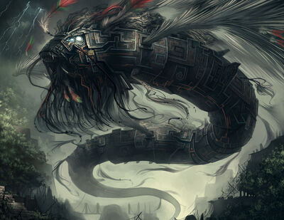 800x618 1272 Quetzalcoatl 2d fantasy dragon picture image digital art
