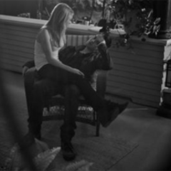 Tom and Brit between takes