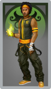 Male martial artist