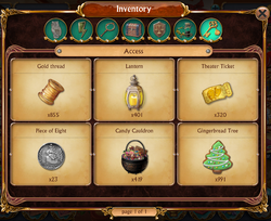 Inventory Access Tab
