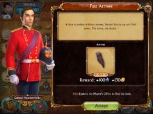 Quests information box arrows