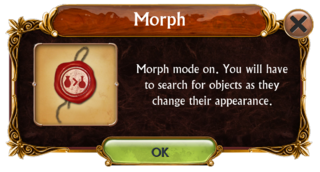 Morph mode information box
