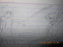 Sakura is fighting against the darkness of Sasuke